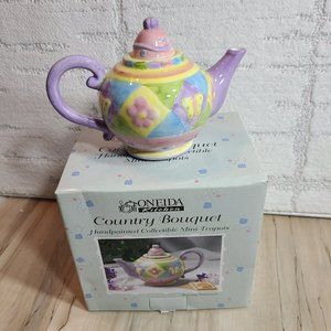 Butterfly Patchwork TeaPot